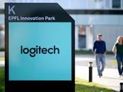 Der Umsatz ist gestiegen: Logo des Computerzubehörstellers Logitech (Archivbild). (Bild: KEYSTONE/LAURENT GILLIERON)