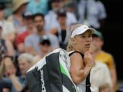 Muss Taschen bereits packen: Caroline Wozniacki (Bild: KEYSTONE/AP/BEN CURTIS)