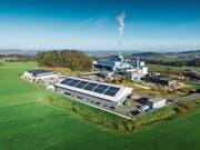 Energie aus Abfällen und Biomasse sowie Solarenergie aus der Fotovoltaikanlage: Der Energiepark Bazenheid produziert erneuerbare Energie aus unterschiedlichen Quellen. (Bild: PD)