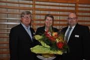 Stabsübergabe im HEV Schweiz Zentralvorstand: Die Luzerner Vertretung wechselt von Karl Rigiert (links) zu Armin Hartmann (rechts). (Bild: PD)