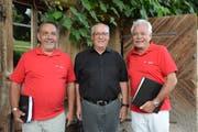 Engagieren sich für den Thurgauer Festchor: Teamchef Walter Luginbühl, Chorleiter Paul Steiner und Peter Grau, Präsident des Trägervereins. (Bild: Georg Stelzner)