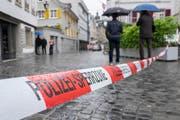 Der Tatort an der Webergasse in St.Gallen. (Bild: Urs Bucher)