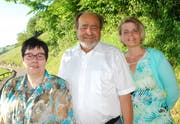 Die Kantidaten der SVP Walchwil: Monika Fallegger (Kantonsrat, neu), Moritz Schmid (Kantonsrat, bisher), Caroline Schmid (Gemeinderat, bisher) (Bild: PD)
