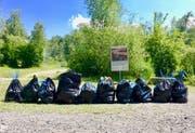 Ausbeute der Putzaktion: 400 Liter Müll. (Bild: pd)