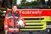 Ein motivierter Retter an vorderster Front: der in Rans wohnhafte Michael Derungs. (Bild: Mareycke Frehner)