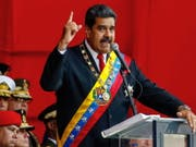 «Keine Sekunde nachlassen»: Venezuelas Präsident Nicolás Maduro. (Bild: KEYSTONE/EPA EFE/CRISTIAN HERNANDEZ)