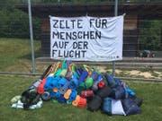 Die Freiwilligen konnten 50 Zelte und 47 Schlafmatten spenden. (Bild: pd)