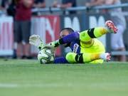 Von Basel via die Grasshoppers zu Luzern - immerhin ein Testspiel (gegen Aarau) bestritt Mirko Salvi mit den Grasshoppers (Bild: KEYSTONE/MELANIE DUCHENE)