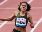 Mujinga Kambundji läuft in Lausanne über 100 m so schnell wie keine Schweizerin vor ihr (Bild: KEYSTONE/MARTIAL TREZZINI)