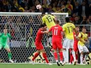 Zuletzt köpfelte Yerry Mina Kolumbien mit seinem Tor in der 93. Minute des Achtelfinalspiels gegen England in die Verlängerung (Bild: KEYSTONE/AP/RICARDO MAZALAN)