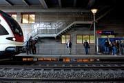 Der Bahnhof Gersag in Emmenbrücke. Die bessere Erreichbarkeit des Umsteigeknoten soll 2019 geplant werden. (Bild: Nadia Schärli, 28. Oktober 2015)