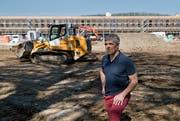 SCK-Präsident Werner Baumgartner auf der Kleinfeld-Baustelle (Bild: Corinne Glanzmann (Kriens, 19. April 2018))