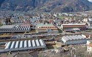 Auf dem Areal der SBB-Cargo-Industriewerkstätten in Bellinzona soll ein neues Quartier entstehen. (Bild: Karl Mathis/Keystone; 7. März 2008)