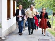 Der Bundesrat auf Schulreise. (Bild: KEYSTONE/PETER KLAUNZER)