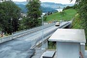 Die Bauarbeiten an der Oberdorfstrasse sind fast abgeschlossen. (Bild: Werner Schelbert (Walchwil, 6. Juli 2018))