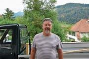Hauswart Guido Bischof will bald mit seinem Kleintransporter nach Italien fahren. (Bild: Corinne Bischof)