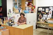 Hedi Knaus hat ihren Arbeitsplatz bei der Schule Schönengrund geräumt. (Bild: CAL)