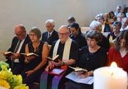 Viele Leute fanden sich in der evangelischen Kirche in Dussnang zum Abschiedsgottesdienst ein (Bild: Christoph Heer)