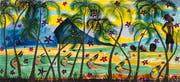 Claude Sandoz: «Out Of A Paradise, Three Happy Fishermen At Easter I, St. Lucia». (Bilder: Kunstmuseum Luzern/M. Latzel/R. Baumann)