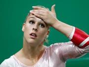Wie schwer hat sich Giulia Steingruber beim Länderkampf in Saint-Etienne verletzt? (Bild: KEYSTONE/PETER KLAUNZER)