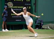 Fängt sich im zweiten Satz noch rechtzeitig auf: Belinda Bencic. (Bild: Tim Ireland/AP (Wimbledon, 7. Juli 2018))