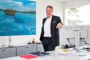 Der Luzerner Investor Alexander Studhalter am Freitag, 16. März 2018 in seinem Büro in Luzern. (Bild: Philipp Schmidli)