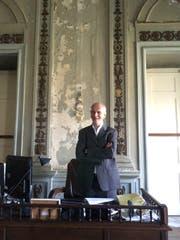 Alexander Kellner in seinem Büro im Museu Nacional in Rio. (Bild: Martina Farmbauer)