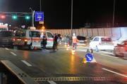 Bei der Grosskontrolle kam es beinahe zu einem Unfall. (Bild: Kantonspolizei St.Gallen)