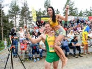 Das Siegerpaar Vytautas Kirkliauskas und Neringa Kirkliauskas (Bild: KEYSTONE/EPA COMPIC/KIMMO BRANDT)