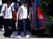 Fernando Hierro (vorne) kehrt dem spanischen Nationalteam den Rücken (Bild: KEYSTONE/EPA EFE/JAVIER ETXEZARRETA)