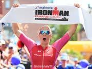 Daniela Ryf enteilte an der Ironman-EM in Frankfurt der gesamten Konkurrenz (Bild: KEYSTONE/dpa/ARNE DEDERT)