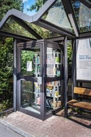 An der Bushaltestelle Scheidweg in Winkeln ist eine kleine Bücherei entstanden. (Bild: Michel Canonica)