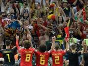 Die Belgier wollen am Dienstag gegen Frankreich erstmals in den WM-Final einziehen (Bild: KEYSTONE/AP/ANDRE PENNER)