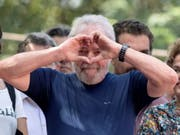 Muss im Gefängnis bleiben: Brasiliens Ex-Präsident Luiz Inácio Lula da Silva. (Bild: KEYSTONE/EPA EFE/SEBASTIAO MOREIRA)