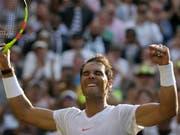 Ein deutliches Zeichen der Stärke: Rafael Nadal erreichte die Viertelfinals ohne Satzverlust (Bild: KEYSTONE/AP/TIM IRELAND)