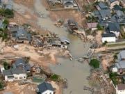 Heftiger Regen während mehrerer Tage führte in der Stadt Kurashiki im Westen Japans zu grossen Verwüstungen. (Bild: KEYSTONE/AP Kyodo News)