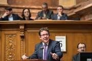 SVP-Parteipräsident Albert Roesti: «Ich wurde von diesem Entscheid überrascht.»(KEYSTONE/Peter Schneider)