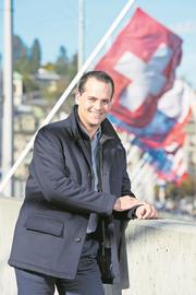 FDP-Ständerat Damian Müller aus Hitzkirch ermunterte an der 1.-August-Feier in Hochdorf zu einem zukunftsweisenden Umgang mit traditionellen Werten. (Bild: pd)