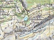 Im Gebiet des Axalphorns ist am Dienstagnachmittag eine Wanderin abgestürzt. Die Retter konnten die Frau nur noch tot bergen. (Bild: Swisstopo)
