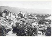 Ein Bild der Zerstörung: Die Zuger Vorstadtkatastrophe am 5. Juli 1887. (Bild: PD)