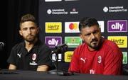 Gennaro Gattus (rechts), Trainer des AC Milan. (Bild: Keystone/Mike Nelson)