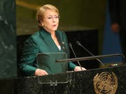 Michelle Bachelet ist am Freitag zur Menschenrechtskommissarin der Vereinten Nationen gewählt worden. (Bild: Keystone/AP/SETH WENIG)