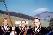Fahnenträger der Älplerbruderschaft an der Fahnenweihe am 4.Oktober 1959. (Bild: PD)