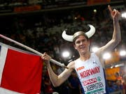 Jakob Ingebrigtsen springt über 1500 m für seine Brüder in die Bresche und gewinnt Gold (Bild: KEYSTONE/EPA/FELIPE TRUEBA)
