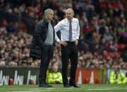 """Burnley Trainer Sean Dyche (rechts) wird auf der Insel """"Ginger Mourinho"""" genannt. (Bild: Epa)"""