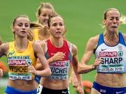 Wurde auf der Zielgeraden noch abgefangen: Die Schweizer 800-m-Läuferin Selina Büchel (Bild: KEYSTONE/WALTER BIERI)