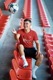 Ndue Daka: Abgespeckt arbeitete er sich von der Ersatzbank in der 5. Liga bis zum Leistungsträger des FC Willisau empor. (Bild: Philipp Schmidli (Willisau, 7. August 2018)