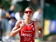 Nicola Spirig gewann mit dem Mixed-Team Silber (Bild: KEYSTONE/EPA/ROBERT PERRY)