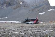 Eine Junker JU-52 ist am Samstag, 4. August bei Flims abgestürzt. (Bild: Kantonspolizei Graubünden)