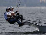 Lucien Cujean und Sébastien Schneiter sicherten den Quotenplatz (Bild: KEYSTONE/AP/BERNAT ARMANGUE)